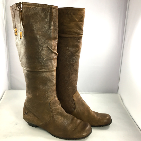 f27febbdd7a Born Shoes - Born Knee high brown leather boots size 8.5